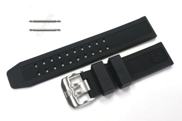 Luminox 23mm FP.L.ES Black Silicone Rubber Watch Band Strap NAVY SEAL 3050/3080 - Forevertime77