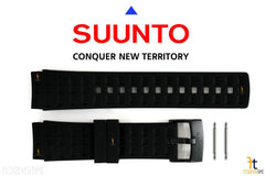 Suunto Elementum Terra Original ALL Black Rubber Watch Band Strap Kit w/ 2 Pins