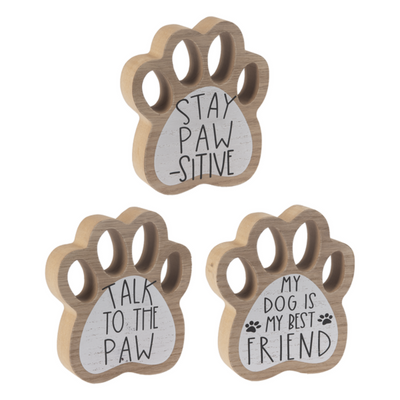 Paw Print Shelf Sign