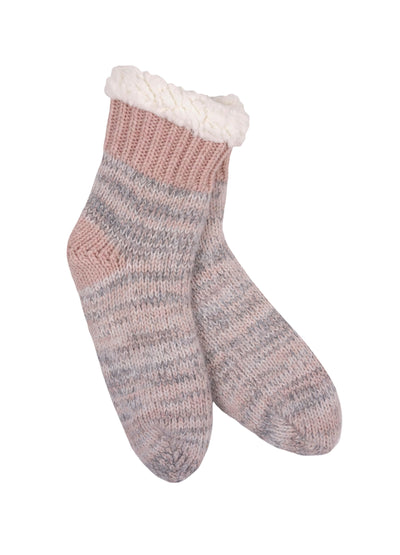 Thermal Knit Giving Sock - Pink