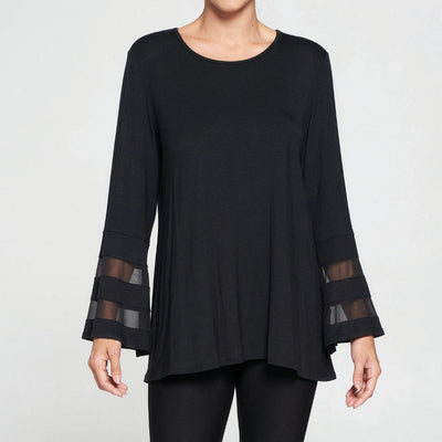 Sheer Bell Sleeve Tunic