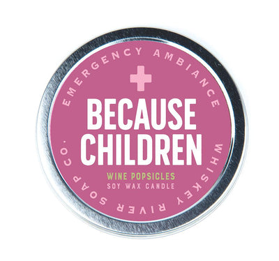 Because Children Travel Candle Tin