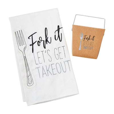 Mudpie Fork It Let's Get Take Out Dish Towel