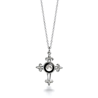 Moonglow Medieval Cross Necklace