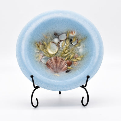 Seascape Wax Pottery Candle Bowl