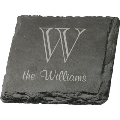 Personalized Square Slate Coaster