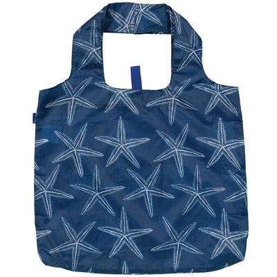 Blu Bags Reusable Shopping Tote Starfish Navy