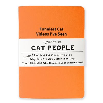 Journals for Cat People set of 3