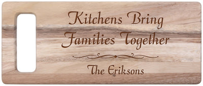 Personalized Acacia Cutting Board 6.5x15