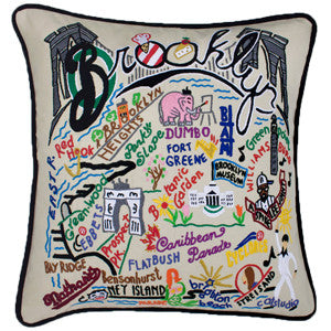 Brooklyn Embroidered Pillow