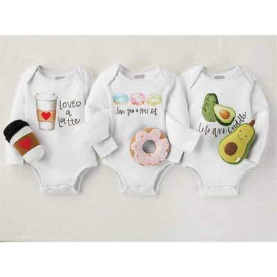 Food Themed Onesie and Rattle Set