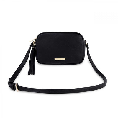 Sophia Tassel Crossbody - Black
