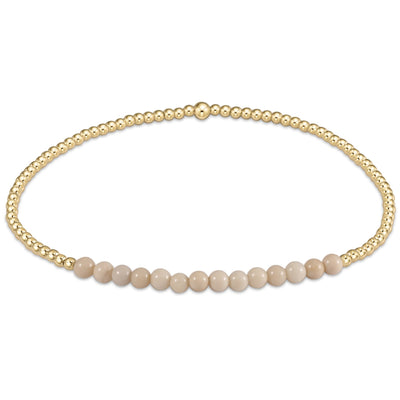 Gold Bliss 2mm Gold Filled Bracelet - Riverstone