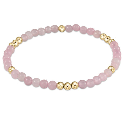 enewton Worthy Pattern 4mm Bead Bracelet Rose Quartz