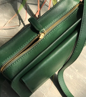 Emerald Green Saddle Bag