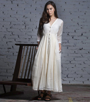 Ivory Cotton Gown
