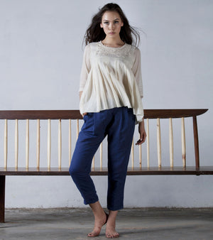 IVORY CROCHET YORK TOP