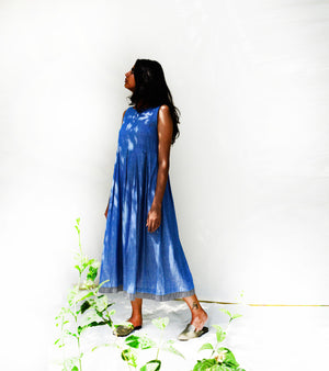 Blue Box Pleated Dress