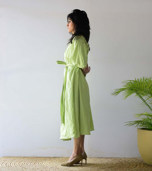 Lime Green Robe Dress