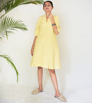 Yellow A Line Dress