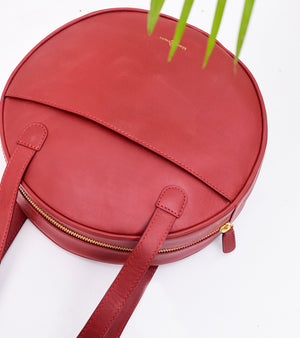 Red Round Bag