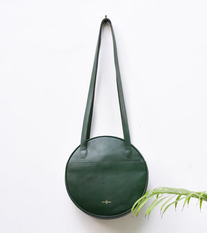 Emerald Green Round Bag