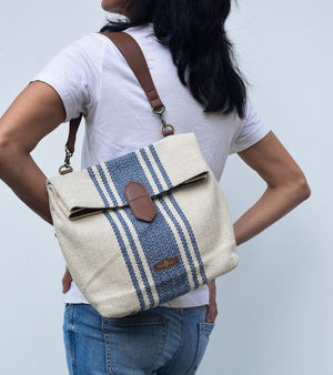 Fold over canvas bag