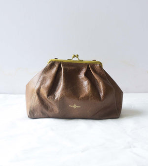 Crushed Leather Dumpling Bag