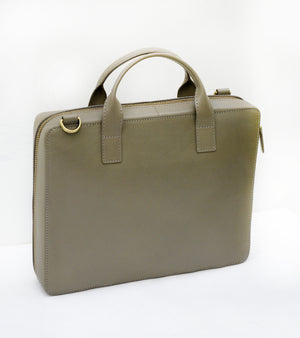 Olive mini organiser briefcase