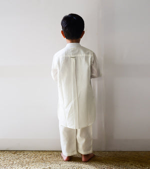 Ivory Pathani Kurta Set