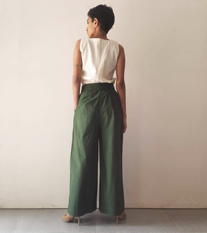 Dark Green Wrap over Pants