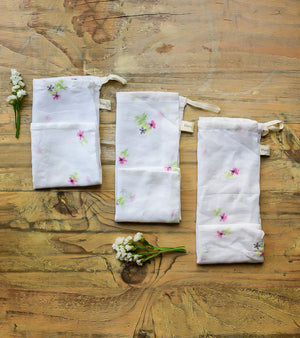 Set of 3 - Floral print Pouch