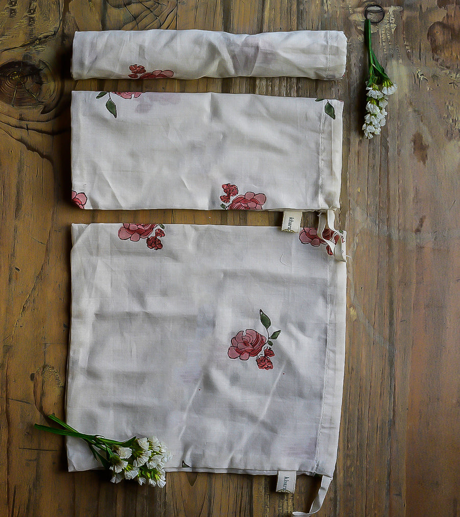 Floral Pouch- Set of 3