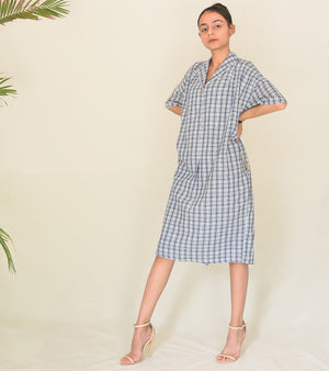 Under The Weather Checkered Dress