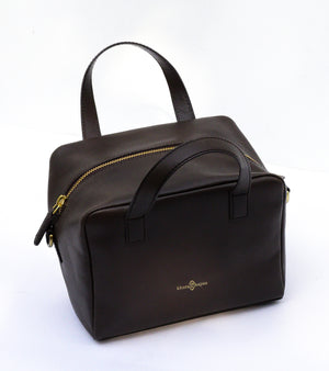 Dark Brown mini basket bag