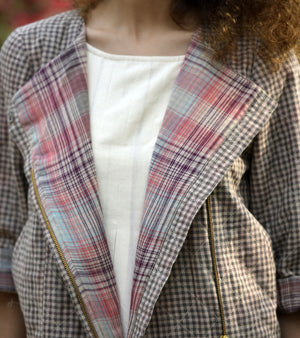 CHECKS IN PLACE JACKET