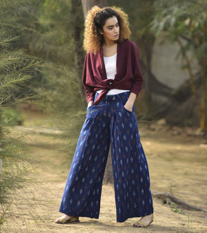 BLUE HIPSTER PANTS