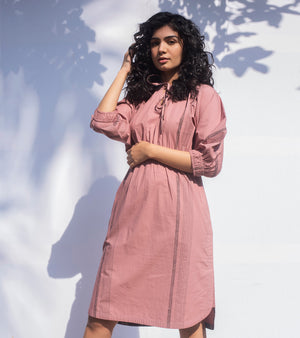 Dusty Pink Noise Dress