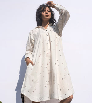 White Noise shirt dress