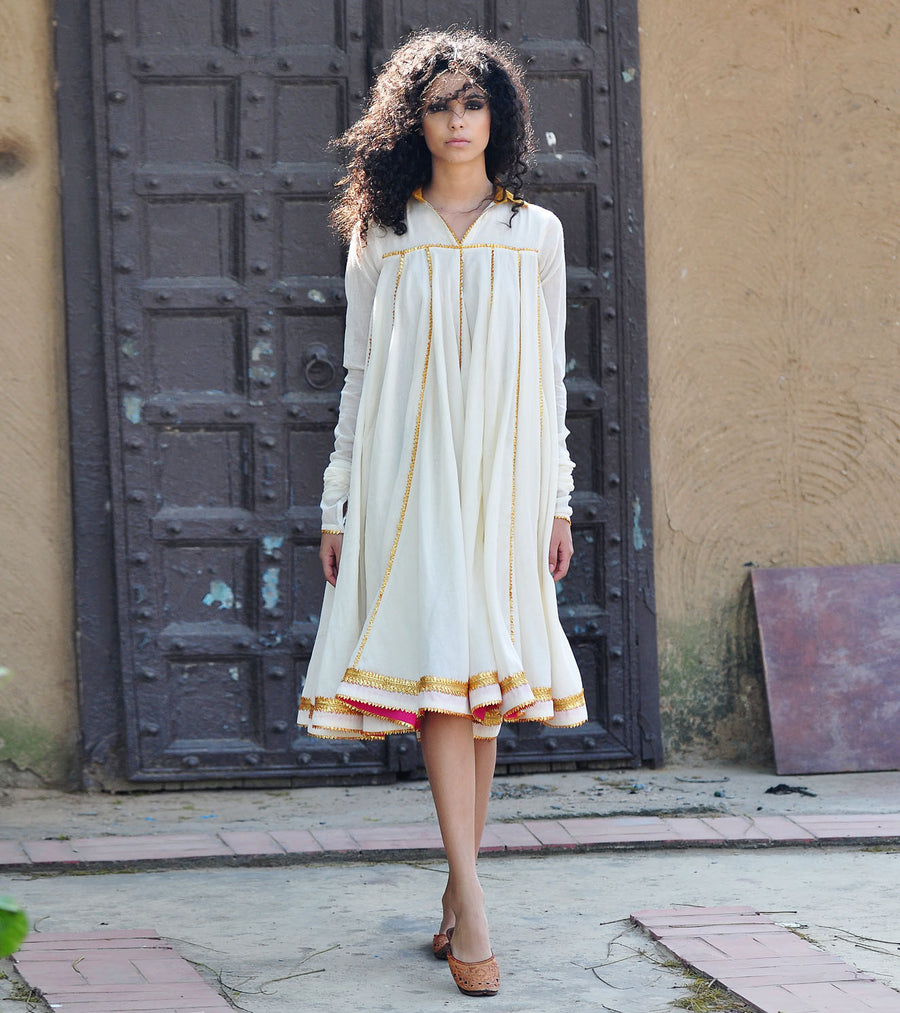 IVORY AND GOLD KALI DRESS
