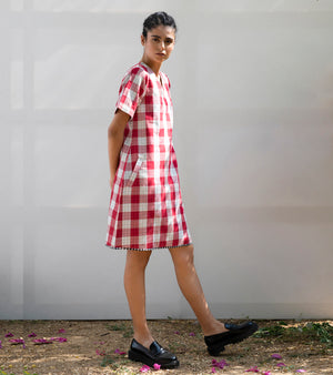 Pin Cherry Shift Dress