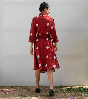 Red Cedar Wrap Dress