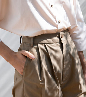 Elm Twig Cropped Trousers