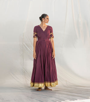 Rangmanch Pleated Gown