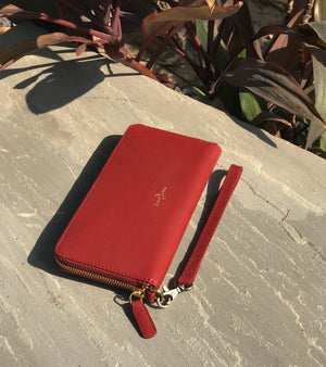 Red double channel wallet