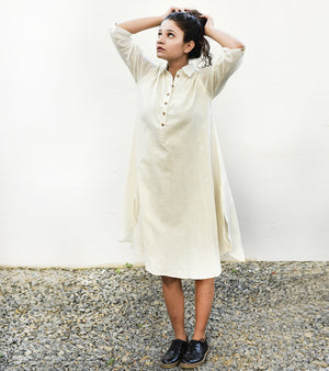 White A - Line Kurta Dress