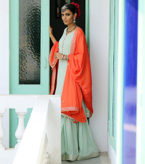 MINT & TANGERINE SHARARA SET