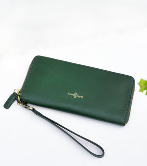 Emerald green wallet