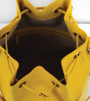Yellow Drawstring Shoulder Bag