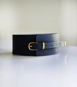 Midnight Blue Corset Belt